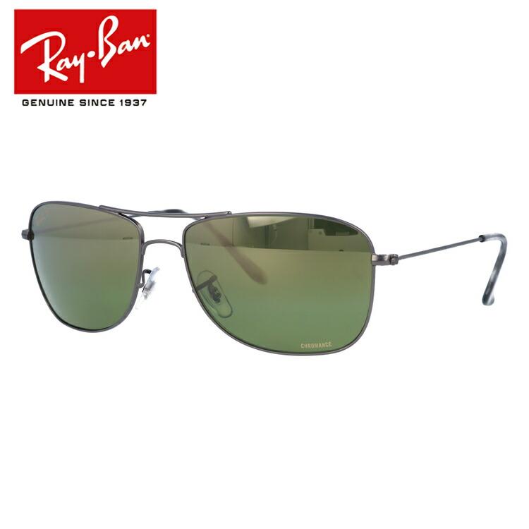 国内正規品 レイバン Ray-Ban サングラス クロマンス RB3543 029/6O 59 ガンメタル 調整可能ノーズパッド Chromance 偏光レンズ ミラーレンズ メンズ レディース アイウェア