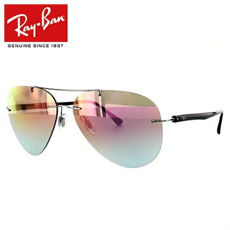 国内正規品 レイバン Ray-Ban サングラス RB8058 159/B9 59サイズ シルバー/ブラック 調整可能ノーズパッド ミラーレンズ メンズ レディース アイウェア RAYBAN