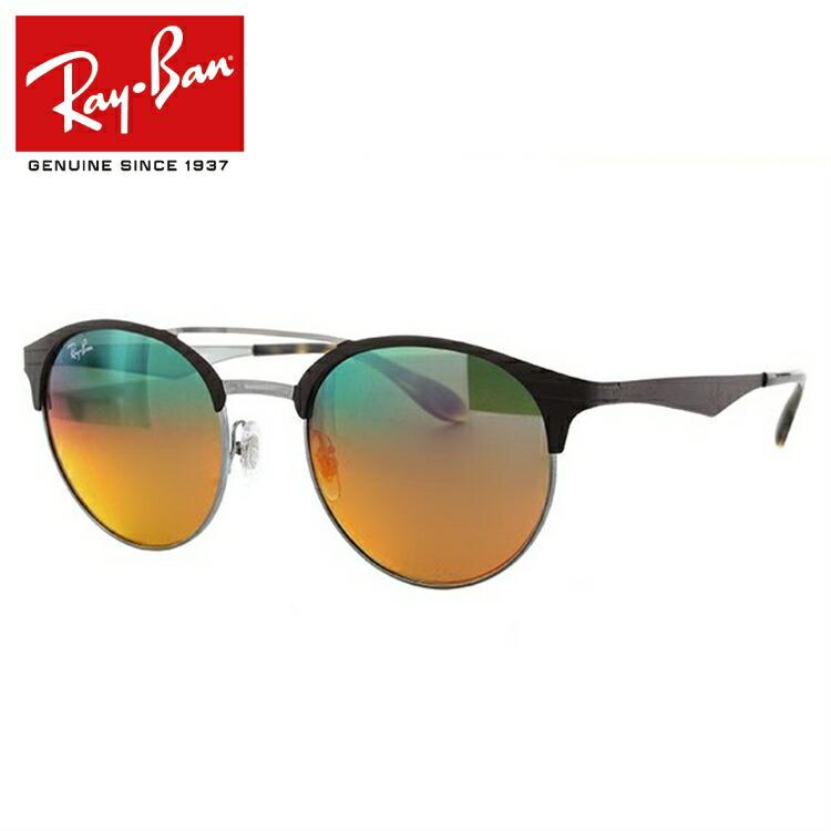 国内正規品 レイバン Ray-Ban サングラス RB3545 9006A8 51サイズ マットブラウン/ガンメタル 調整可能ノーズパッド ミラーレンズ メンズ レディース アイウェア RAYBAN