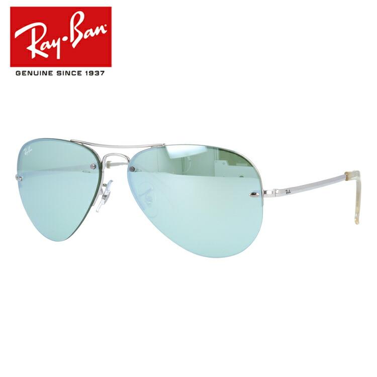 国内正規品 レイバン サングラス ミラーレンズ Ray-Ban RB3449 904330 59サイズ ティアドロップ(ダブルブリッジ) ユニセックス メンズ レディース