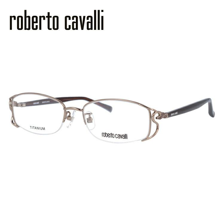 【選べる無料レンズ → PCレンズ・伊達レンズ・老眼鏡レンズ】 Roberto Cavalli ロベルト カバリ メガネフレーム RC0604-1 52サイズ チタン/スクエア/レディース