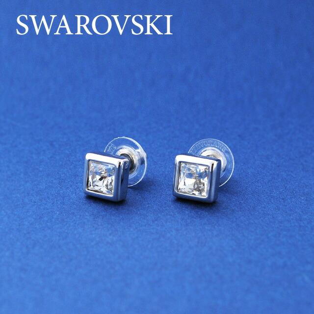 SWAROVSKI スワロフスキー社 レディースジュエリー・アクセサリー ピアス 1058489 PE PRINCESS CUT PIERCED EARRINGS スワロフスキ クリスタル ガラス