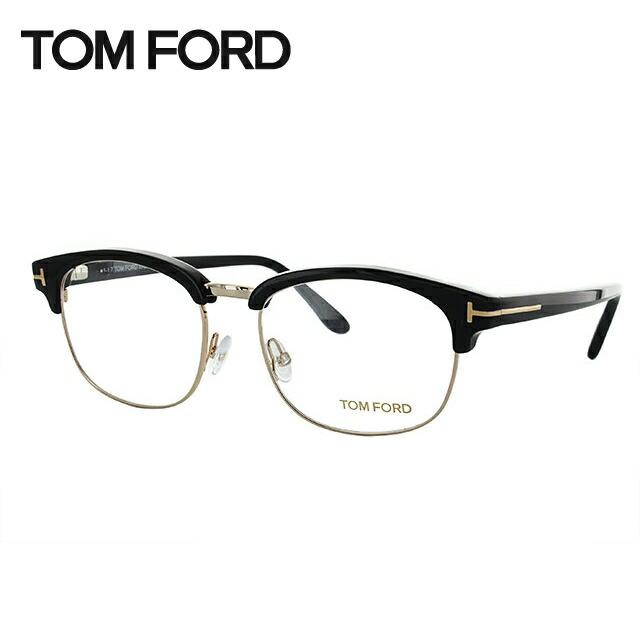 トムフォード メガネ 伊達レンズ無料 0円 メガネフレーム トム・フォード レギュラーフィット TOM FORD TF5458 001 53サイズ(FT5458) ブロー ユニセックス メンズ レディース ダテメガネ ブランドメガネ 紫外線対策