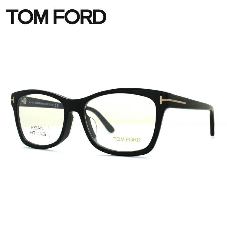 【選べる無料レンズ → PCレンズ・伊達レンズ・老眼鏡レンズ・カラーレンズ】 トムフォード メガネフレーム アジアンフィット TOM FORD TF5424F (FT5424F) 001 53サイズ スクエア ユニセックス メンズ レディース