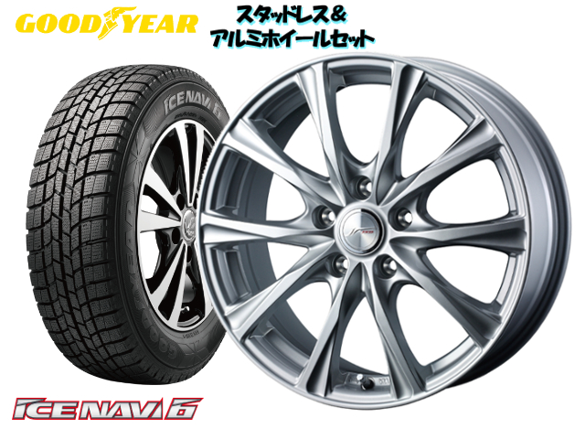 GOODYEARスタッドレス icenavi6 155/65R13 & JOKER MAGIC 13×4.0 100/4H + 45 ムーヴ L900S 系