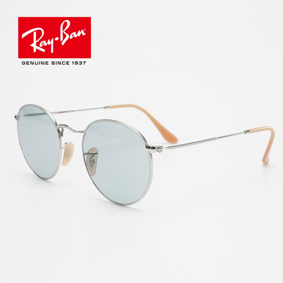 Ray-Ban RB3447 9065I5 メンズ レディース 正規商品販売店 無料 和真メガネです 50サイズ ラウンド blue EVOLVE 調光サングラス レイバン ROUNDMETAL 限定価格セール ROUND ユニセックス photo