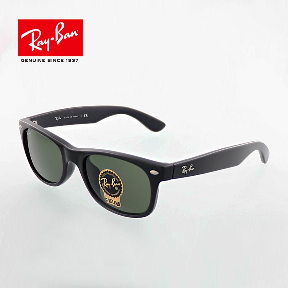 誕生日/お祝い Ray-Ban WAYFARER ウェイファーラー メンズ 公式 レディース 正規商品販売店です レイバン サングラス GREEN 52mm BLACK NEW 901 RB2132F CRYSTAL