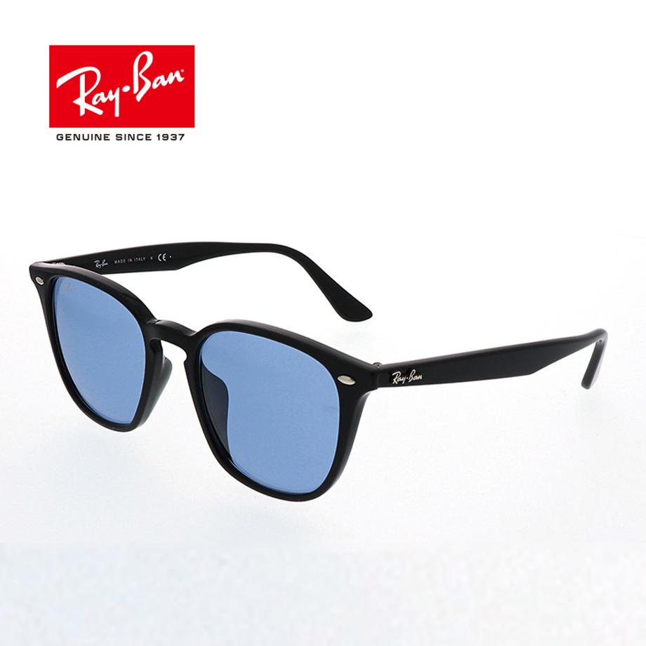 Ray-Ban WAYFARER 人気商品 ウェイファーラー メンズ レディース 正規商品販売店 和真メガネです レイバン サングラス RB4258F JPフィット 601 大好評です LENSES WASHED 80 ブルー ライトカラーレンズ 52 ブラック