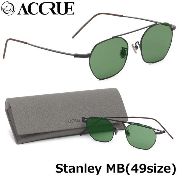 アクル ACCRUE サングラスStanley MB 49サイズACCRUE アクル accrue スタンレー stanley サングラス ヘキサゴンシェイプ メンズ レディース