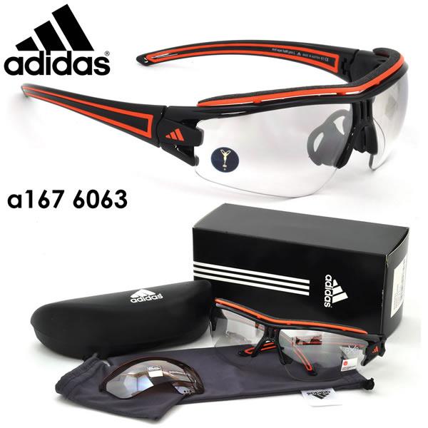 アディダス adidas サングラスa168 01/6063 66サイズEVIL EYE HALFRIM PRO イービルアイ ハーフリム プロ Sサイズスポーツサングラス アウトドアアディダス adidas メンズ レディース