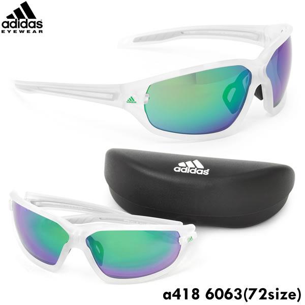 【adidas】(アディダス) サングラス a418 6063 72サイズ evil eye evo L スポーツサングラス 軽量 ミラーアディダス adidas メンズ レディース ポイント10倍