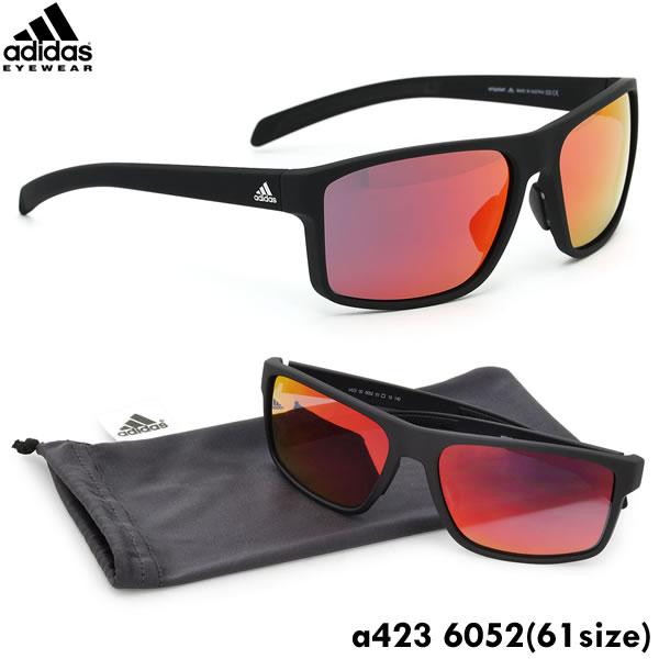 【adidas】(アディダス) サングラス a423 6052 61サイズ whipstart スクエア スポーツサングラス アウトドア ミラーアディダス adidas メンズ レディース ポイント10倍