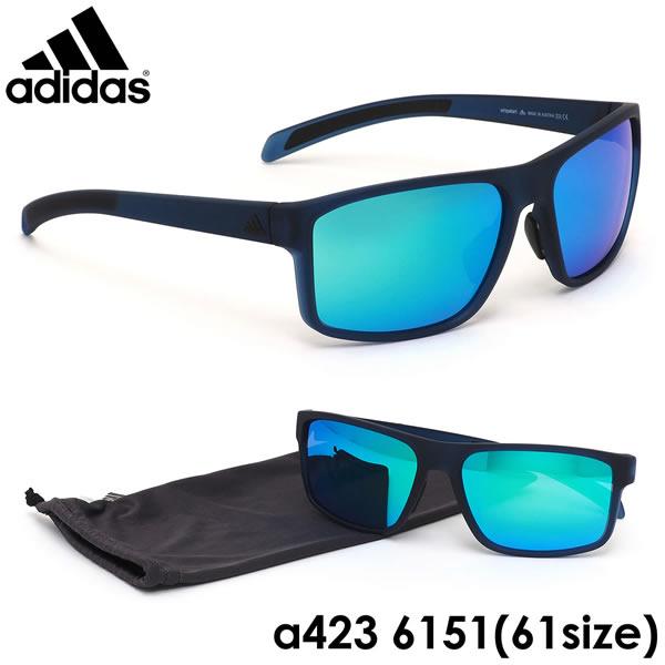 アディダス adidas サングラスa423/00 6151 61サイズWHIPSTART ウィップスタート スクエア スポーツサングラス アウトドア ミラー ポイント10倍アディダス adidas メンズ レディース