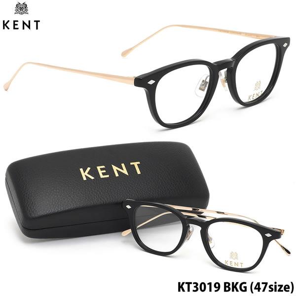 ケント KENT メガネKT3019 BKG 47サイズクラシカル 日本製 伊達メガネレンズ無料 メンズ レディース