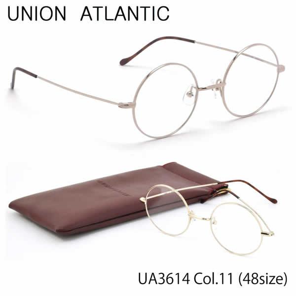 【ユニオンアトランティック】 (UNION ATLANTIC) メガネUA3614 11 48サイズ日本製 丸メガネ AMIPARISUNIONATLANTIC 伊達メガネレンズ無料 メンズ レディース
