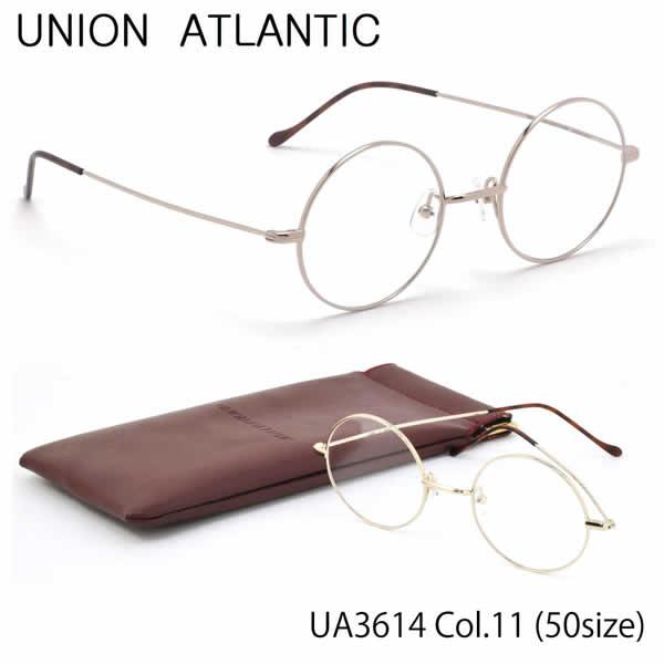 【ユニオンアトランティック】 (UNION ATLANTIC) メガネUA3614 11 50サイズ日本製 丸メガネ AMIPARISUNIONATLANTIC 伊達メガネレンズ無料 メンズ レディース
