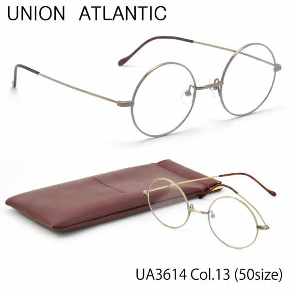 【ユニオンアトランティック】 (UNION ATLANTIC) メガネUA3614 13 50サイズ日本製 丸メガネ AMIPARISUNIONATLANTIC 伊達メガネレンズ無料 メンズ レディース