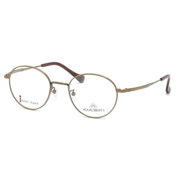 アクアリバティ AQUALIBERTY メガネAQ22500 AG 48サイズ日本製 メイドインジャパン MADE IN JAPAN ボストン クラシック ヴィンテージ レトロ シンプル 近視 乱視 遠視 老眼伊達メガネレンズ無料 メンズ レディース