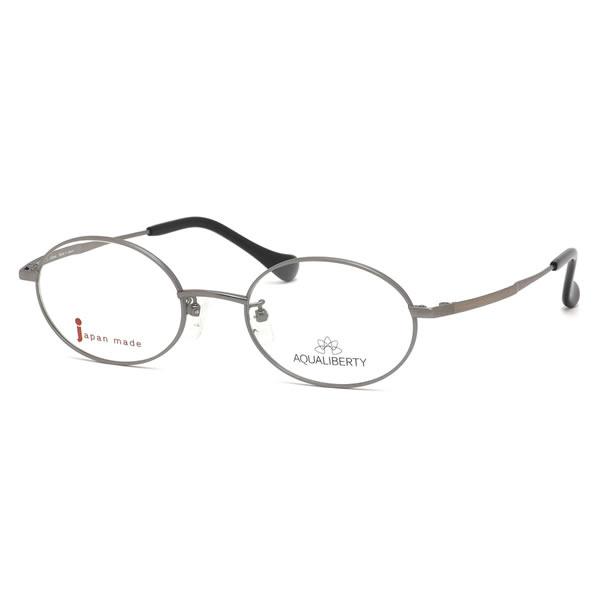アクアリバティ AQUALIBERTY メガネAQ22505 AY 50サイズ日本製 メイドインジャパン MADE IN JAPAN オーバル クラシック ヴィンテージ レトロ シンプル 近視 乱視 遠視 老眼伊達メガネレンズ無料 メンズ レディース