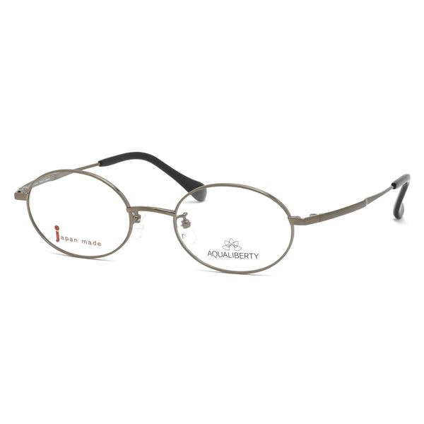アクアリバティ AQUALIBERTY メガネAQ22505 BR 50サイズ日本製 メイドインジャパン MADE IN JAPAN オーバル クラシック ヴィンテージ レトロ シンプル 近視 乱視 遠視 老眼伊達メガネレンズ無料 メンズ レディース
