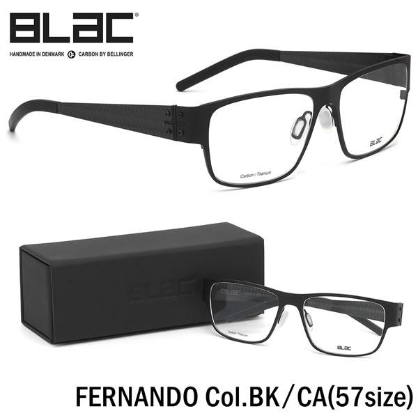 ブラック BLaC メガネFERNANDO BK/CA 57サイズFERNANDO カーボンファイバー CARBON FIBER ハイブリッド Titanium チタニウムブラック BLaC メンズ レディース