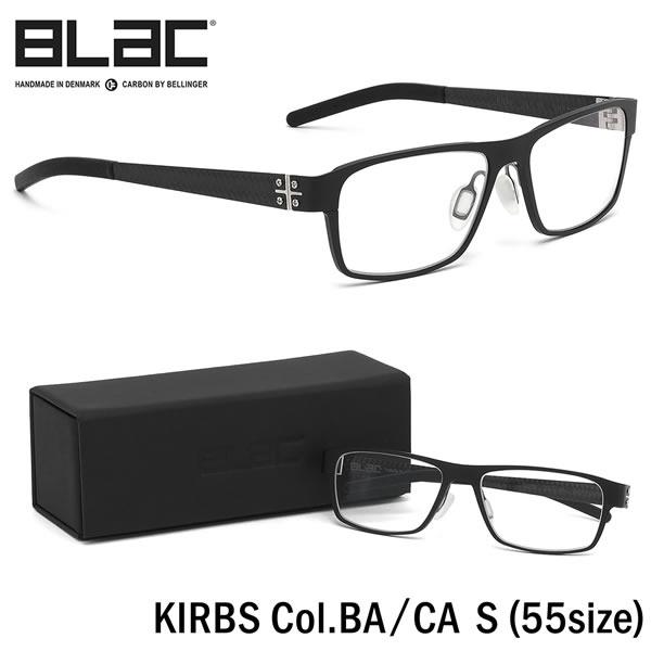 ブラック BLaC メガネKIRBS BA/CA S 55サイズKIRBS カーボンファイバー CARBON FIBER ハイブリッド ALU アル アルミニウムブラック BLaC メンズ レディース
