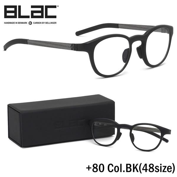 ブラック BLaC メガネ+80 BK 48サイズ+80 PLUS80 カーボンファイバー CARBON FIBER ハイブリッド BLaC+ ポリアミドブラック BLaC メンズ レディース