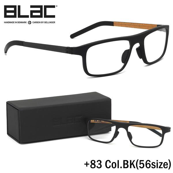 ブラック BLaC メガネ+83 BK 56サイズ+83 PLUS83 カーボンファイバー CARBON FIBER ハイブリッド BLaC+ ポリアミドブラック BLaC メンズ レディース