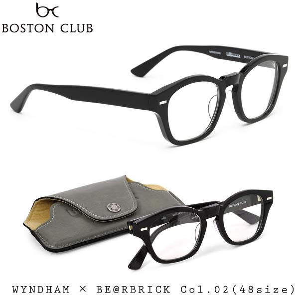 【BOSTON CLUB】(ボストンクラブ) ウィンダム メガネ フレーム WYNDHAM 02 48サイズ ウェリントン 伊達メガネセット メンズ レディース