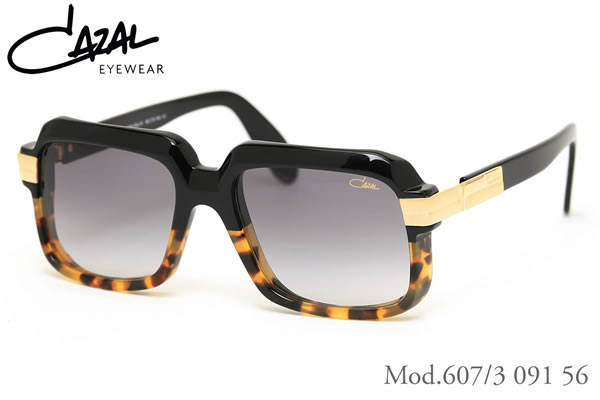 【CAZAL】(カザール) サングラス レジェンズ 607/3 091 56サイズ レジェンド CAZAL LEGENDS 限定生産 デミハーフコレクション メンズ レディース