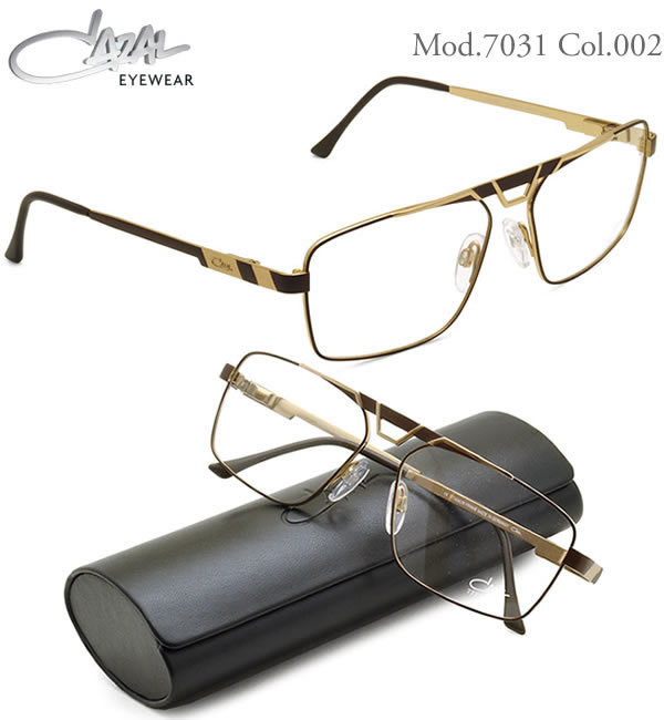 CAZAL カザール メガネ 7031 002 58サイズ CAZAL 伊達メガネレンズ無料 メンズ レディース