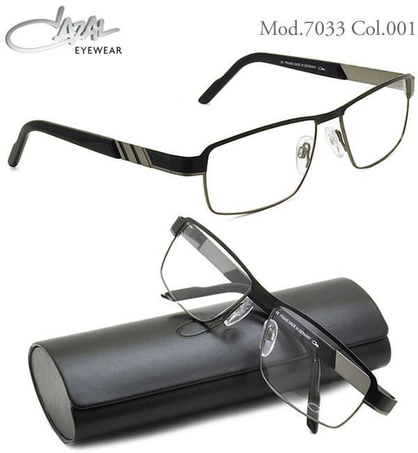CAZAL カザール メガネ 7033 001 58サイズ CAZAL 伊達メガネレンズ無料 メンズ レディース