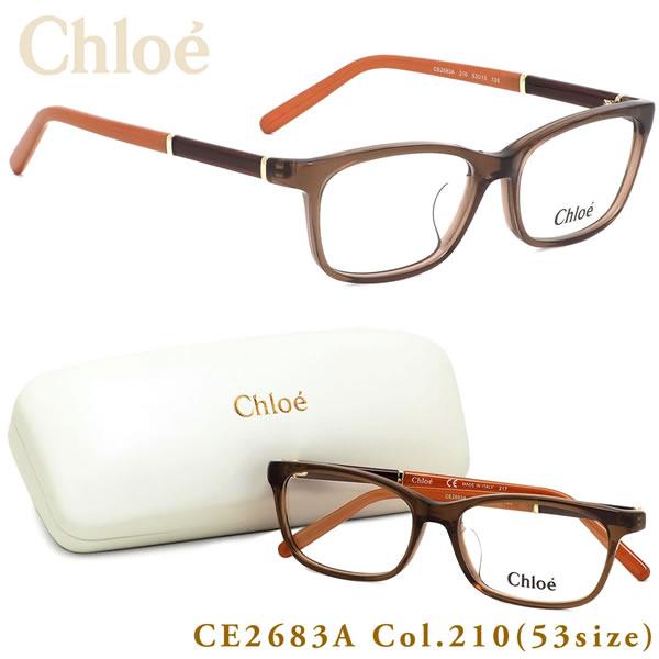 クロエ Chloe メガネCE2683A 210 53サイズスクエア コーラルレッドクロエ Chloe メンズ レディース