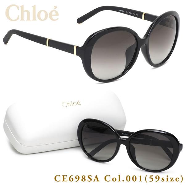 クロエ Chloe サングラスCE698SA 001 59サイズASIAN FIT STYLES アジアフィット フルフィット 小顔効果 ブラックメンズ レディース