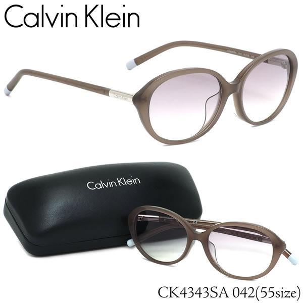 カルバンクライン Calvin Klein サングラス CK4343SA 042 55サイズ CK オーバル フルフィット カルバンクライン CalvinKlein メンズ レディース