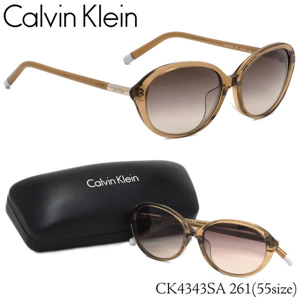 カルバンクライン Calvin Klein サングラスCK4343SA 261 55サイズCK オーバル フルフィットカルバンクライン CalvinKlein メンズ レディース