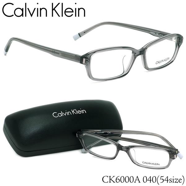 カルバンクライン Calvin Klein メガネCK6000A 040 54サイズck スクエア クリアカラー スケルトンカルバンクライン CalvinKlein メンズ レディース