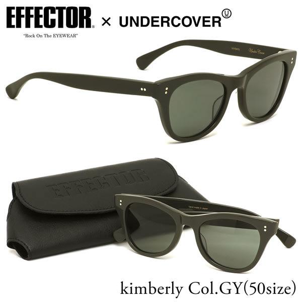 エフェクター EFFECTOR サングラスUNDERCOVER KIMBERLY GY 50サイズアンダーカバー キンバリー コラボ Wネーム 日本製メンズ レディース