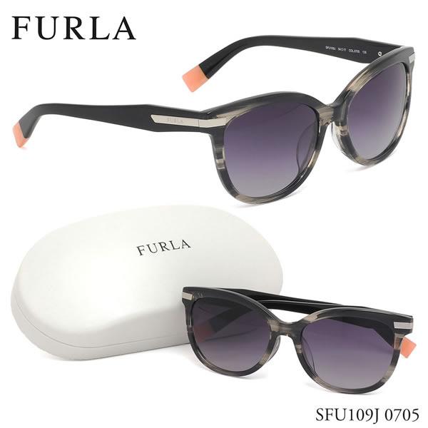 【フルラ】 (FURLA) サングラスSFU109J 0705 54サイズウェリントン 笹柄 ササ FURLA レディース