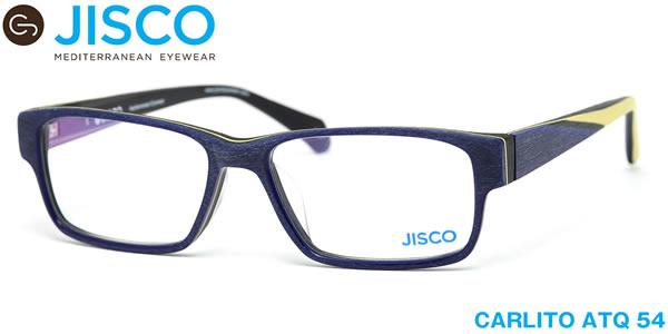 【14時までのご注文は即日発送】CARLITO ATQ 54サイズ JISCO (ジスコ) メガネ バネ蝶番 バネ丁番 メンズ レディース 【伊達メガネ用レンズ無料!!】【あす楽対応】【LOS40】