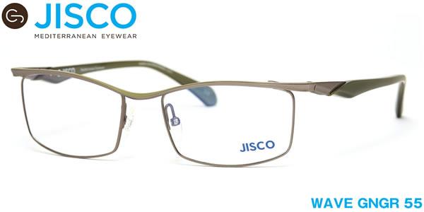 【14時までのご注文は即日発送】WAVE GNGR 55サイズ JISCO (ジスコ) メガネ バネ蝶番 バネ丁番 メンズ レディース 【伊達メガネ用レンズ無料!!】【あす楽対応】【LOS40】