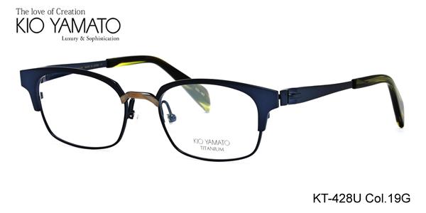 【KIO YAMATO メガネ】キオヤマト メガネフレーム KT428U 19G 52【あす楽対応】
