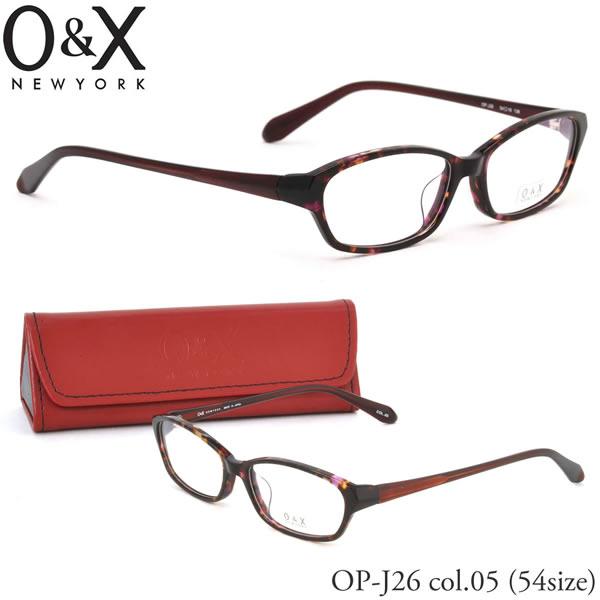 【O&X】(オーアンドエックス) メガネ フレーム OP J26 05 54サイズ スクエア 日本製 オーアンドエックス O&X メンズ レディース