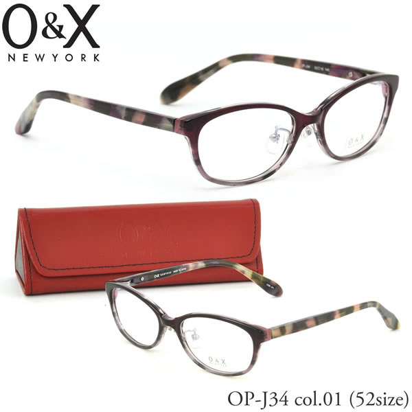 【O&X】(オーアンドエックス) メガネ フレーム OP J34 01 52サイズ 板バネ オーバル βTITANIUM βチタン 日本製 オーアンドエックス O&X メンズ レディース