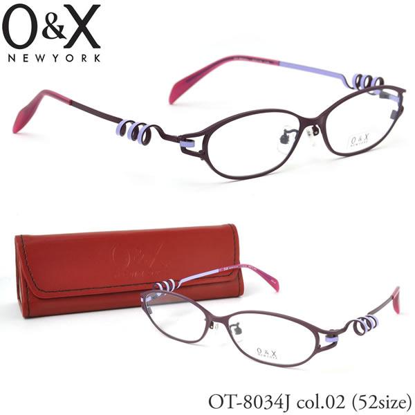 【O&X】(オーアンドエックス) メガネ フレーム OT 8034J 02 52サイズ フォックス βTITANIUM ベータチタン 日本製 シートメタル オーアンドエックス O&X メンズ レディース