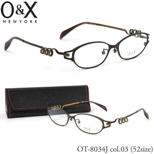 【O&X】(オーアンドエックス) メガネ フレーム OT 8034J 03 52サイズ フォックス βTITANIUM ベータチタン 日本製 シートメタル オーアンドエックス O&X メンズ レディース