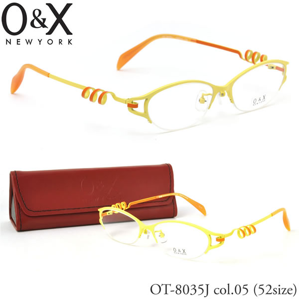 【O&X】(オーアンドエックス) メガネ フレーム OT 8035J 05 52サイズ オーバル ナイロール βTITANIUM ベータチタン 日本製 シートメタル オーアンドエックス O&X メンズ レディース