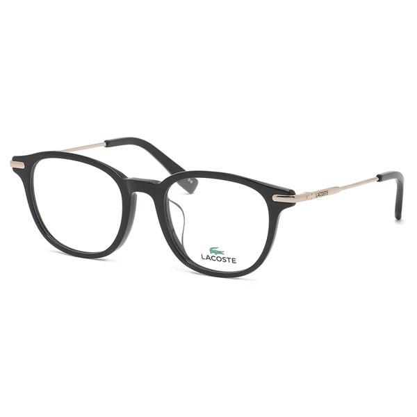 ラコステ LACOSTE メガネ L2835A 001 50サイズ ワニ クロコダイル アジアンフィット コンビネーション ウェリントン メンズ レディース