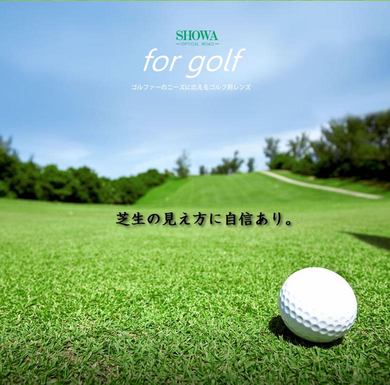 快適!ゴルフ体感! ゴルフ用レンズ 昭和光学 for golf(フォーゴルフ) 6カーブ仕様 度無し