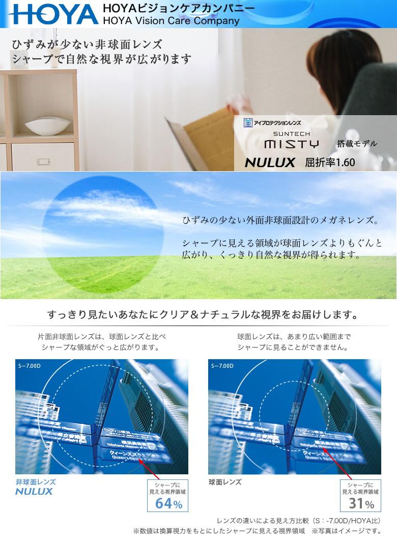 SUNTECH MISTY NL16M HOYA (ホヤ) レンズ サンテック ニュールックス 1.60 外面非球面 調光 度付き
